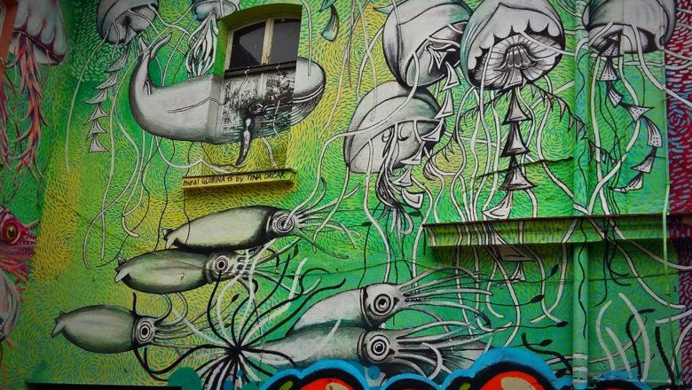 Street Art in Metelkova in Ljubljana