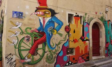 Street Art in Le Panier in Marseille