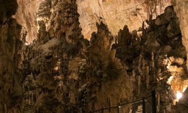 Felsen in der Postojna Höhle