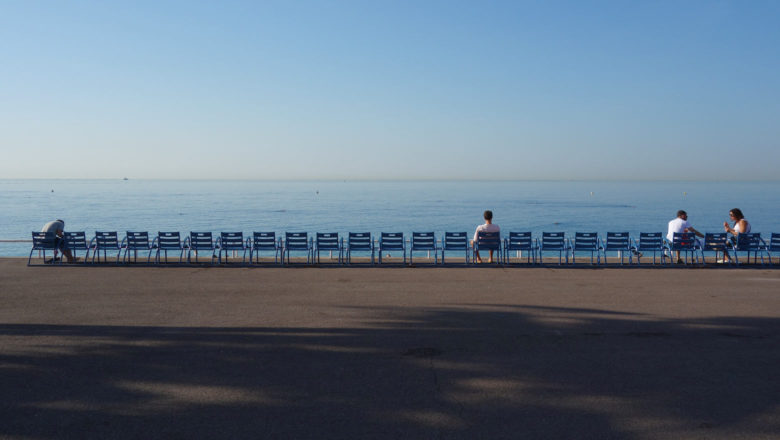 Ufer-Promenade in Nizza an der Côte d'Azur