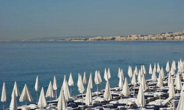 Strand von Nizza an der Côte d'Azur