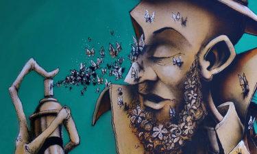 Street Art an Autobahnbrücke der Autoroute A 9 in Montpellier