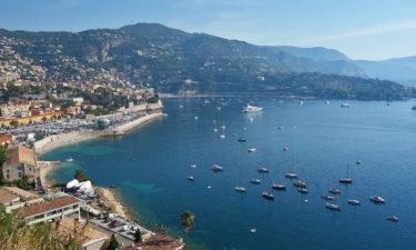Bucht von Villefranche-sur-Mer an der Côte d'Azur