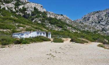 Hütte an der Calanque de Marseilleveyre