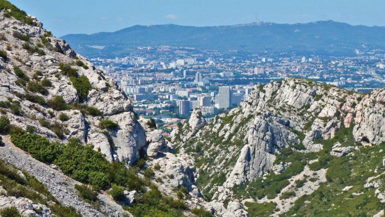Blick auf Marseille vom Nationalpark Calanques