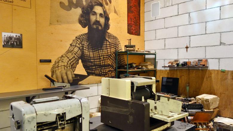 Druckerei im Solidarność Museum in Danzig