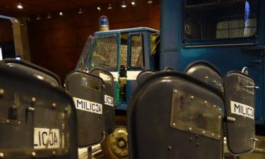 Erinnerung an Polizeieinsatz auf der Werft in Danzig