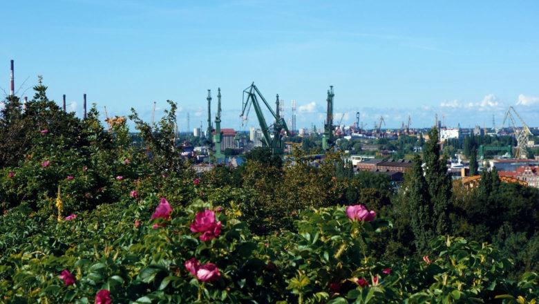 Blick vom Hagelsberg auf die Danziger Werft