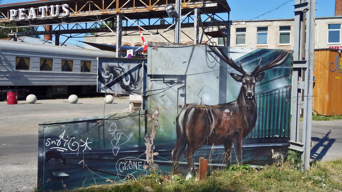 Street Art im Kreativzentrum Telliskivi in Tallinn