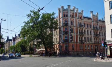 Historische Gebäude in der Altstadt von Riga