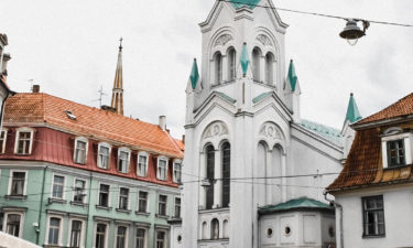 """Kirche """"Our Lady of Sorrows"""" in Riega 